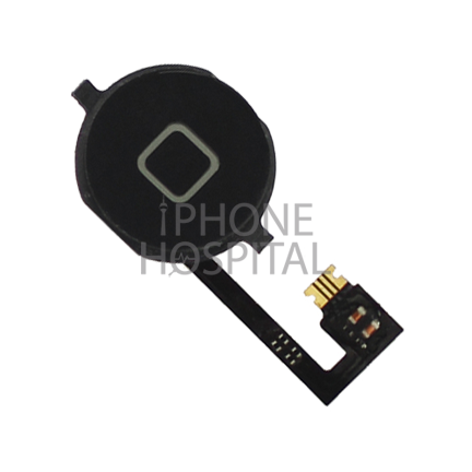 Home-Button in Schwarz mit Flex-Kabel für iPhone 4
