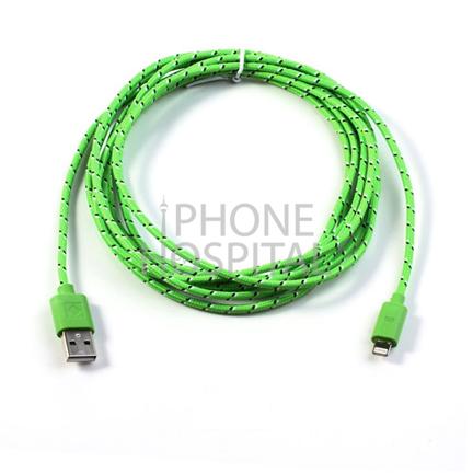 Lightning auf USB Kabel 3m Grün Geflochten für iPad 4 / 5 / 6 / iPad mini 1 / 2 / 3