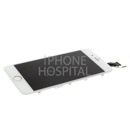 Display in Weiß (mit Zierring in Silber) für iPhone 6