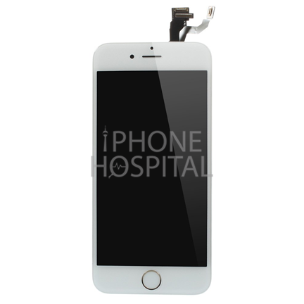 Display in Weiß (mit Zierring in Gold) für iPhone 6 Plus